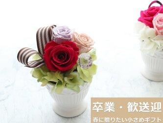 New◆春に贈ろう飾ろう!小さなバラのプリザーブドフラワーアレンジの画像