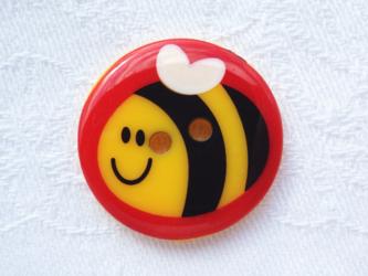 (1個)25mmのミツバチのボタン  イギリス直輸入の画像