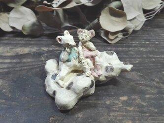 くものりネズミ -水色-の画像