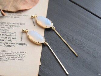 冬の夜空 opal style bijou+stick|イヤリング/14kgfピアス選択可の画像