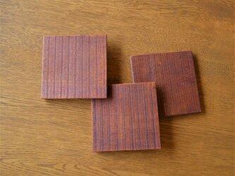 木のコースター Wood coasterの画像