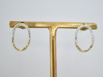 ミルキーウェイ オーバルピアス / Milky Way Oval Earringsの画像