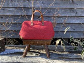 Boston bag  M size [Växbo Lin] ボルドーの画像