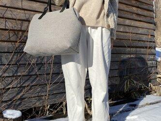 Boston bag  L size [Växbo Lin]灰色の画像