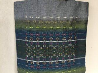 首里花織のトートバッグ / 緑色の画像