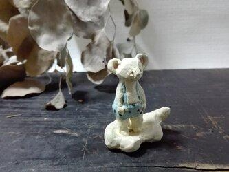 くものりちびネズミ ―水色- の画像