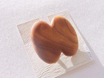 木製ブローチ【欅】の画像