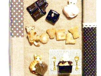 にゃんこのしっぽ〇ちょこっと飾れるスイーツフレーム〇Lovely〇チョコレート〇シュガービスケットの画像