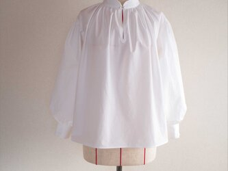painter smock,white,shortの画像