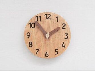 直径15cm 掛け時計 タモ【2011】の画像