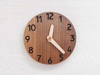 直径15cm 掛け時計 ウォールナット【2012】の画像