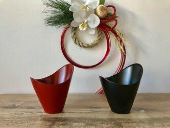 漆器カップ・2点セット(食洗機対応) マットレッド&マットブラックの画像