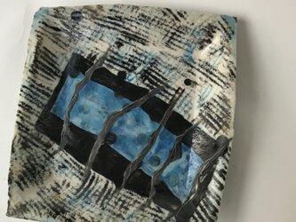陶芸 手びねり  正方形皿の画像