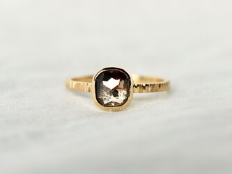 Earth brown diamond ringの画像