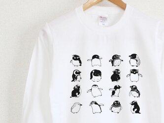 ペンギンがいっぱい ロンT ユニセックスの画像