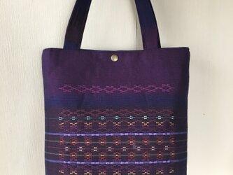 首里花織のトートバッグ / 赤紫色の画像