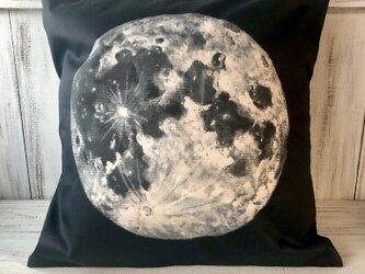 星月猫★「満月」アート クッションカバー 45㎝クッション対応 コットン100%の画像