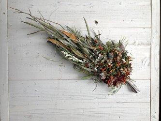ネイティブフラワーと可憐な小花のドライフラワーのスワッグの画像