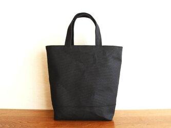 【受注製作】黒 倉敷産8号帆布使用バスケット縦の画像