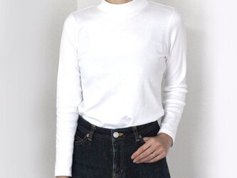 【長袖用】形にこだわった 大人のハイネックTシャツ【サイズ・色展開有り】の画像