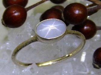 star sapphire*K10 ringの画像