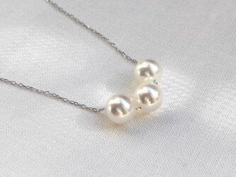 K18 無調色 あこや真珠 3ネックレスの画像