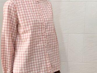 ギンガムチェックシャツ(pink)の画像