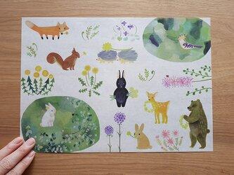A4サイズ 包装紙/ラッピングペーパー 『白いウサギと黒いウサギ』30枚入りの画像