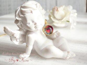 ~*ღLOVEღ*~dome in heart vintage ネックレス。の画像