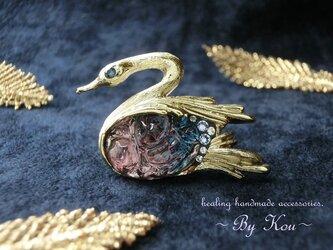 ♡幸運の象徴♡~ *✥Vintage Swan brooches✥*/Bの画像