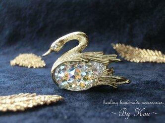 ♡幸運の象徴♡~ *✥Vintage Swan brooches✥*/Aの画像
