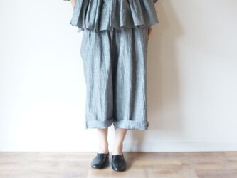 Linen washers Wide pants GRAYの画像