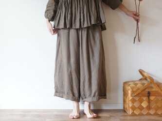 French linen Wide pantsの画像