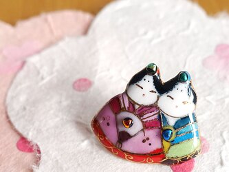 七宝焼ピンブローチ(ピンバッジ,ピンズ) 雛人形(7)の画像