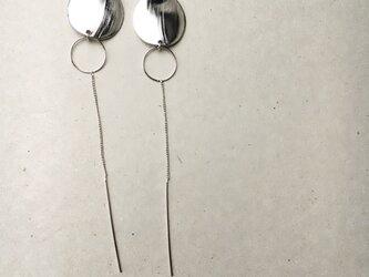 silver long earring…の画像