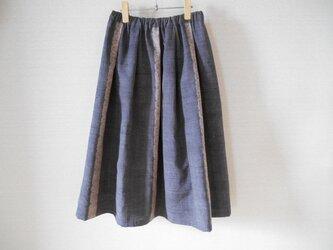 紬の着物リメイクスカート★裏地付の画像