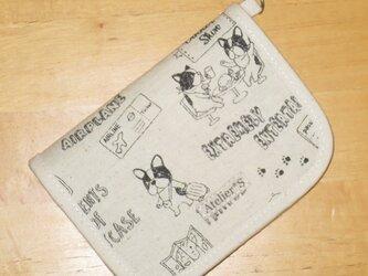 二つ折り財布★フレブルと旅行柄(生成)の画像