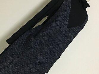 0126   着物リメイク 2L~3L寸法の前後ともVネックチュニック 真綿紬  の画像