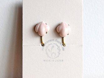 花貝イヤリング【ピンク】(d)の画像