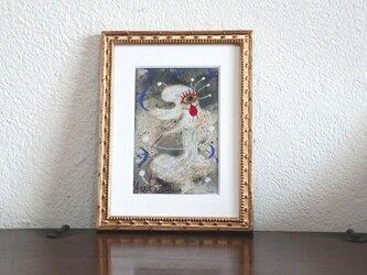 小さい絵画/現代アート/アートコレクション/壁掛けアート/可愛いインテリア/絵画壁掛け/癒しシリーズ・雪の妖精の画像