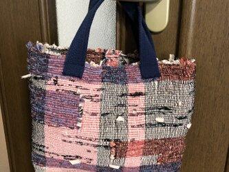 裂き織りバッグ 手織り(裏地なし)の画像