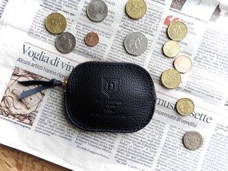 イタリア革のコインケース /ネイビーの画像