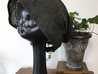 ターバン風帽子(カーキ)の画像