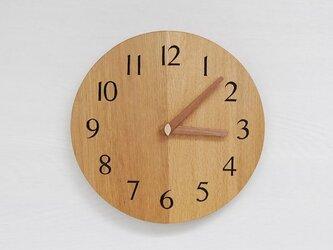 直径26cm 掛け時計 オーク【2015】の画像