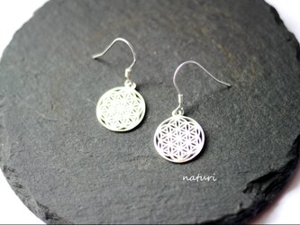 【fleur】sv925 flower of life pierce Ⅱ (2pcs)の画像