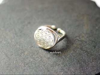 【fleur】sv925 flower of life ringの画像