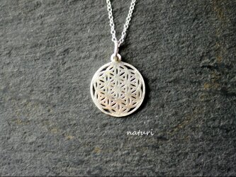 【fleur】sv925 flower of life necklaceの画像