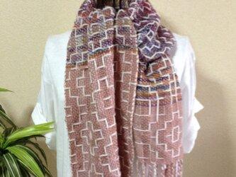 手織り☆ウールのストールの画像