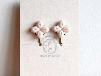 花のイヤリング【ピンク】(c)の画像