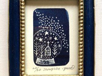 銅版画「snow globe」の画像